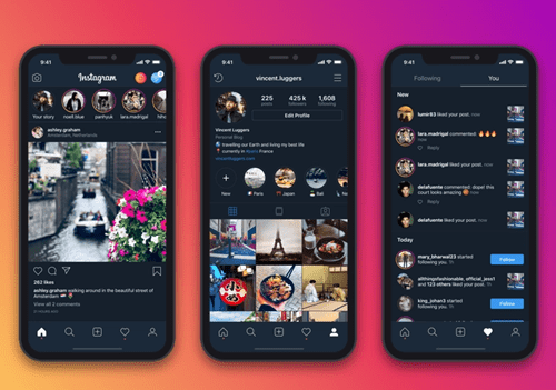how to turn off dark mode on instagram